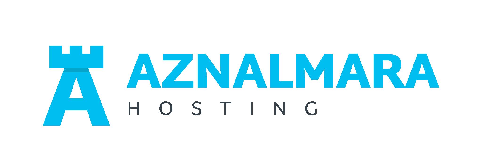 LOGO_AZNALMARA®_HOSTING_AZUL_FONDO_TRANSPARENTE_IZQDA
