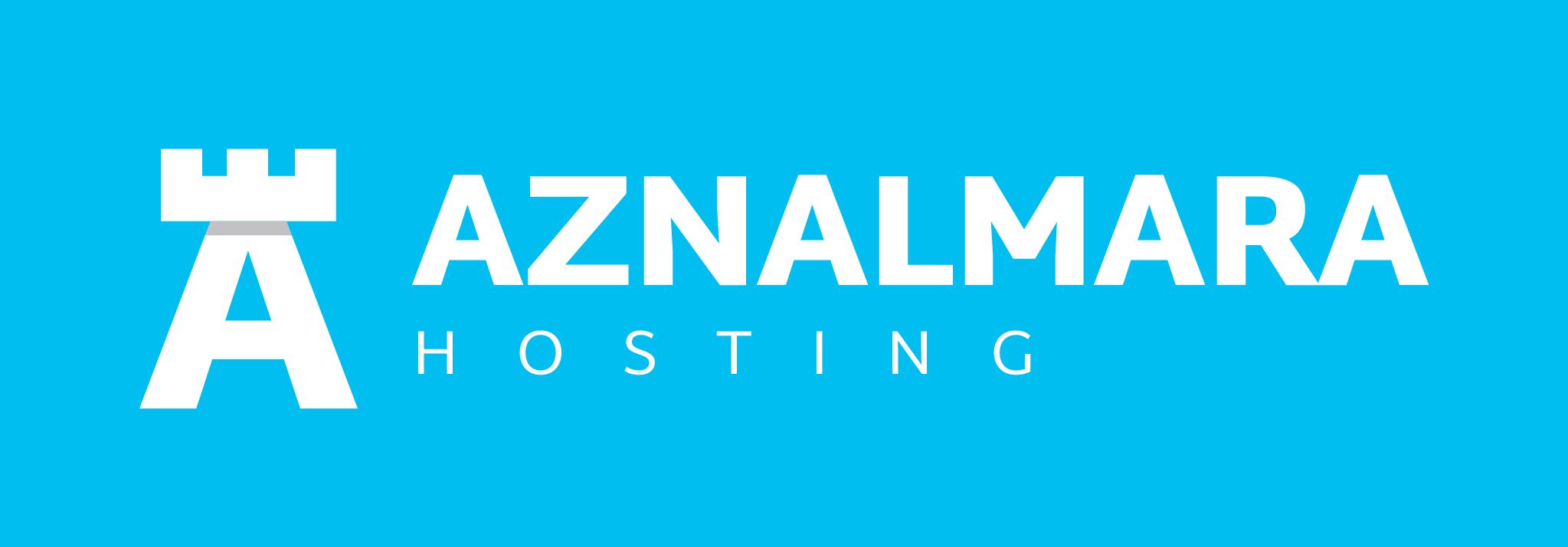 LOGO_AZNALMARA®_HOSTING_BLANCO_FONDO_AZUL_IZQDA