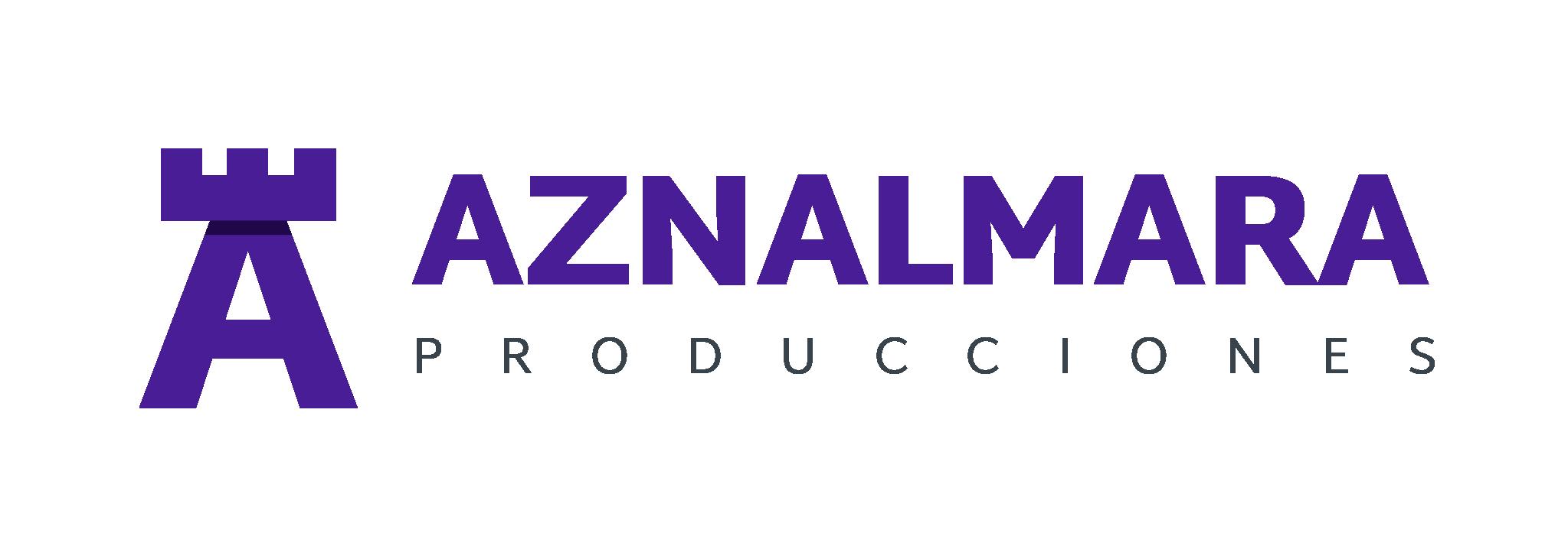 LOGO_AZNALMARA®_PRODUCCIONES_MORADO_FONDO_TRANSPARENTE_IZQDA