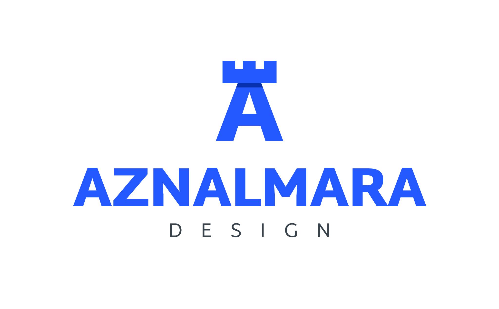 LOGO_VERTICAL_AZNALMARA®_DESIGN_AZUL_FONDO_BLANCO