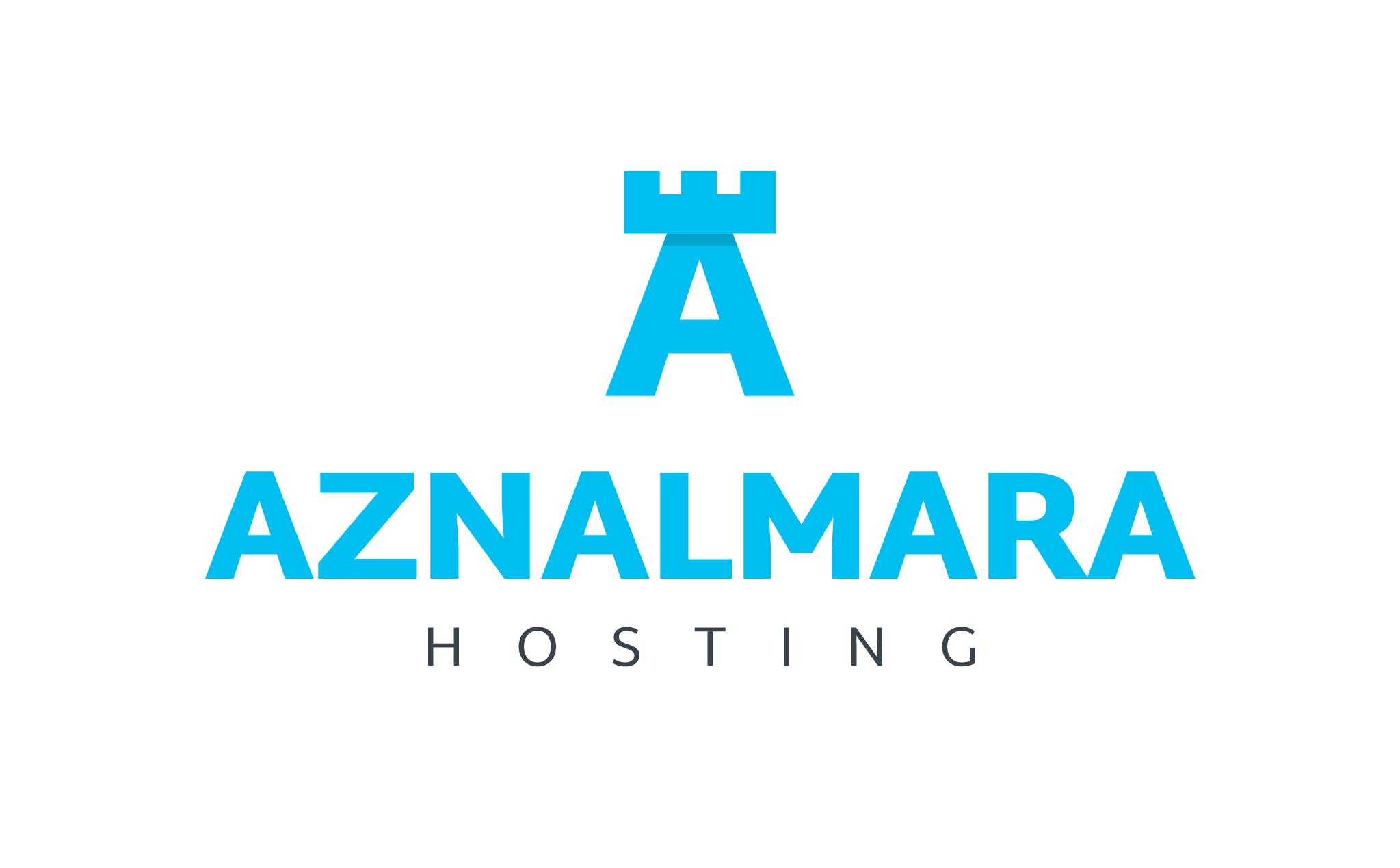 LOGO_VERTICAL_AZNALMARA®_HOSTING_AZUL_FONDO_BLANCO