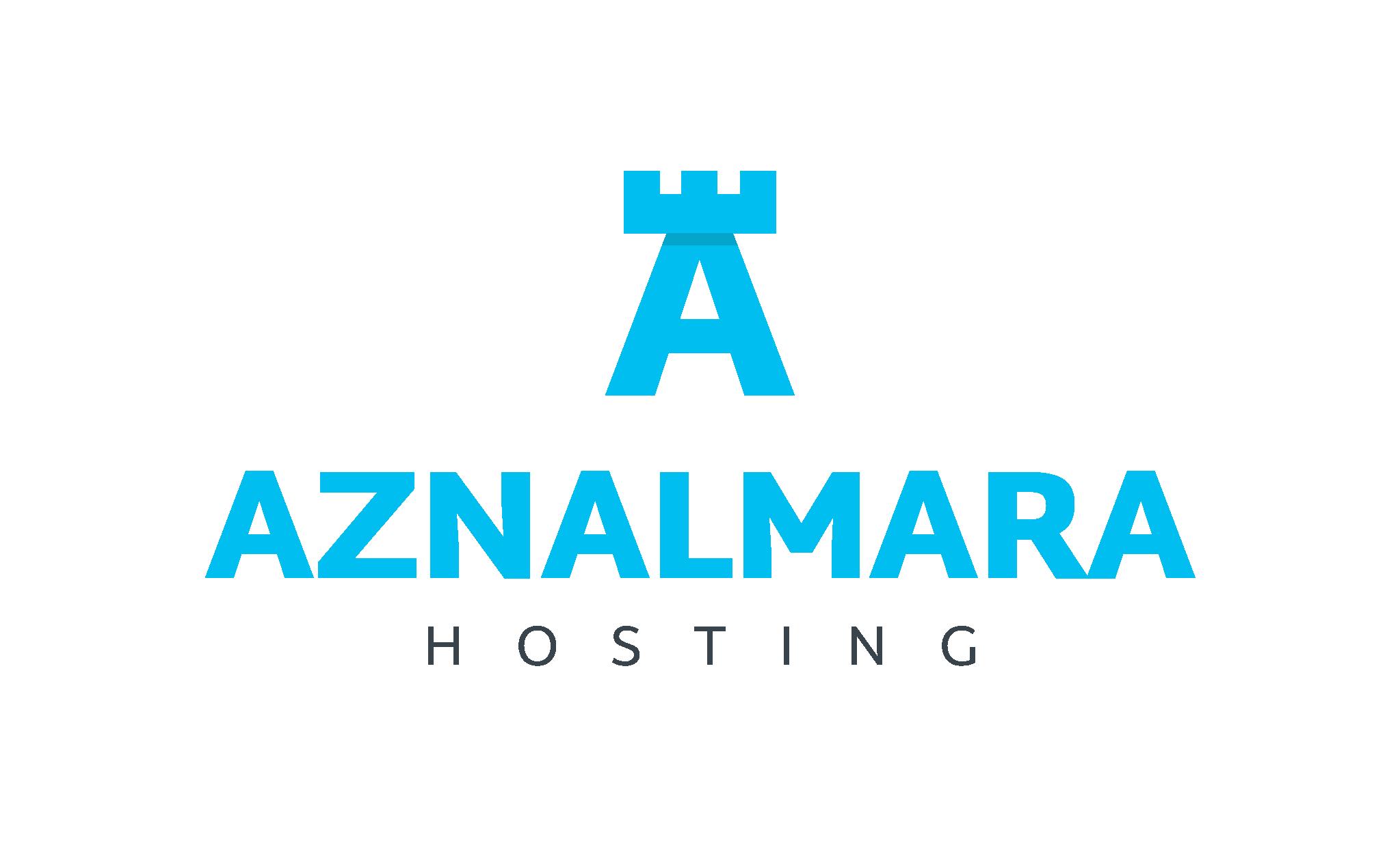 LOGO_VERTICAL_AZNALMARA®_HOSTING_AZUL_FONDO_TRANSPARENTE
